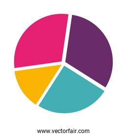 colorful silhouette with pie chart