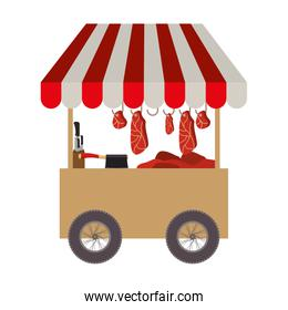 meat food cart icon