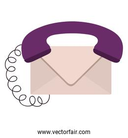 envelope with handset and cord