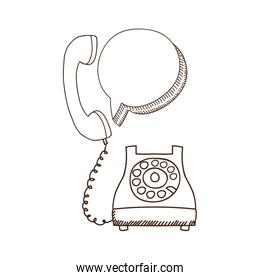 silhouette antoque phone with oval callout