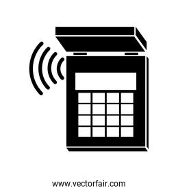silhouette security system alarm icon
