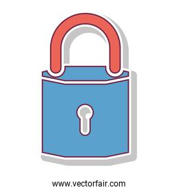 padlock with blue body and shackle
