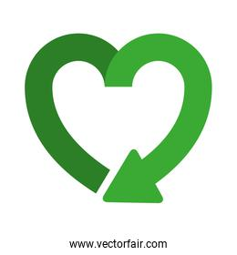 heart shape symbol of reload icon
