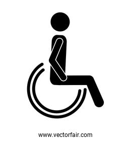 silhouette of disabled icon