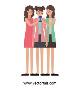 young women with smartphone
