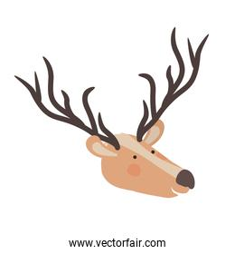 cute and adorable head deer character