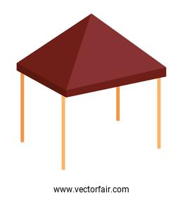 awning tent isolated icon