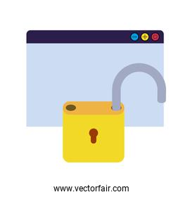 shield with padlock security isolated icon