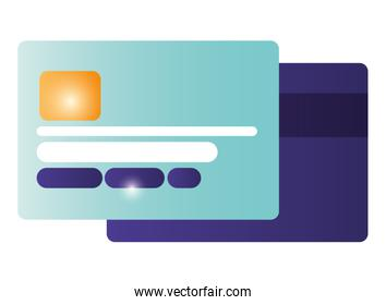 credit card isolated icons