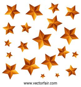 stars gold pattern isolated icon