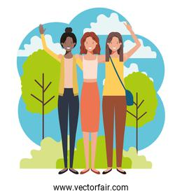 women in the landscape avatar character