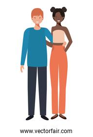 isolated youth couple design vector
