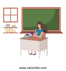 female teacher in the classroom