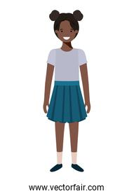 teenager girl afro avatar character