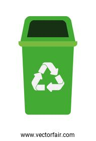 green recycling basket avatar character