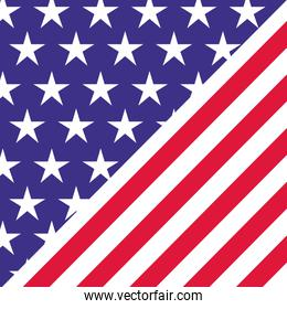 american flag pattern background isolated icon