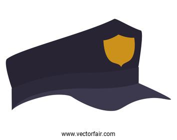 cute police hat isolated icon