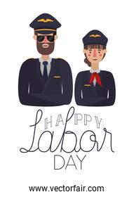 couple the pilots celebrating the work day avatar character