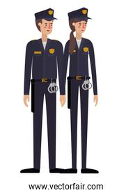couple of police avatar character