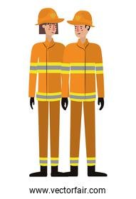 couple of firefighters avatar character