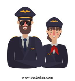couple of pilots avatar character