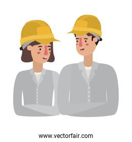 couple of builder avatar character