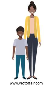 mother and son avatar character