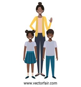 mom with her children avatar character