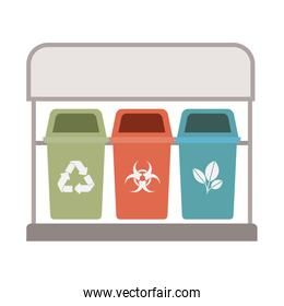recycling baskets isolated icon