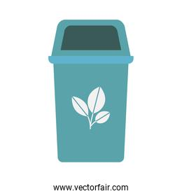 blue recycling basket isolated icon