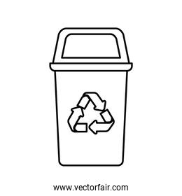 recycling basket avatar character