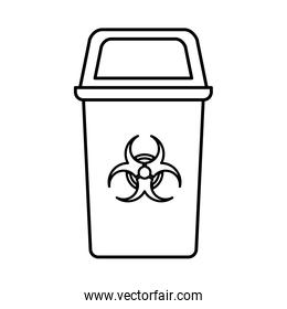 recycling basket isolated icon
