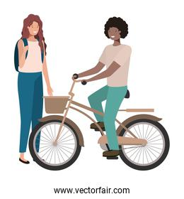 youth couple design vector