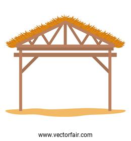 wooden stable manger icon