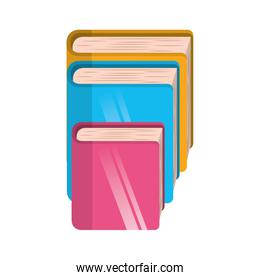 library books isolated icon