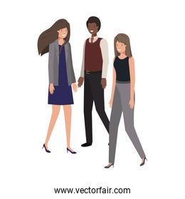 group business people avatar character