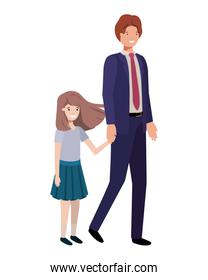 father and daughter avatar character
