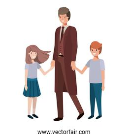father and children avatar character