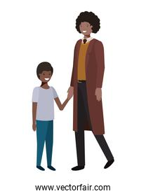 father and son avatar character
