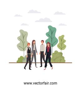 group of people business avatar character