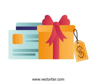 gift box with credit card