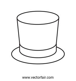 top hat isolated icon