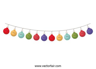 christmas lights isolated icon