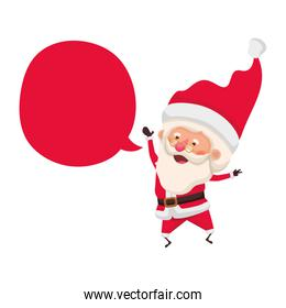 santa claus with speech bubble