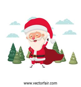 santa claus moving in the snow avatar character