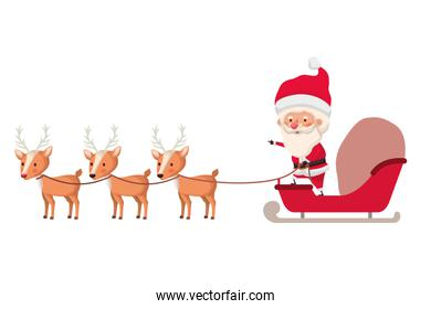 santa claus on sleigh avatar character