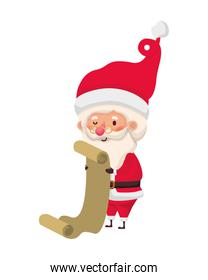 santa claus with gift list avatar character