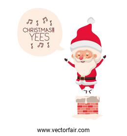 santa claus in fireplace avatar character