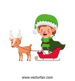 elf with reindeer avatar character