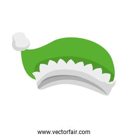 green christmas hat isolated icon